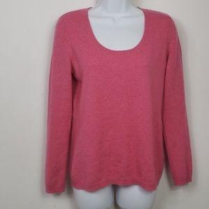 Talbots pink 100% cashmere sweater pink sz s